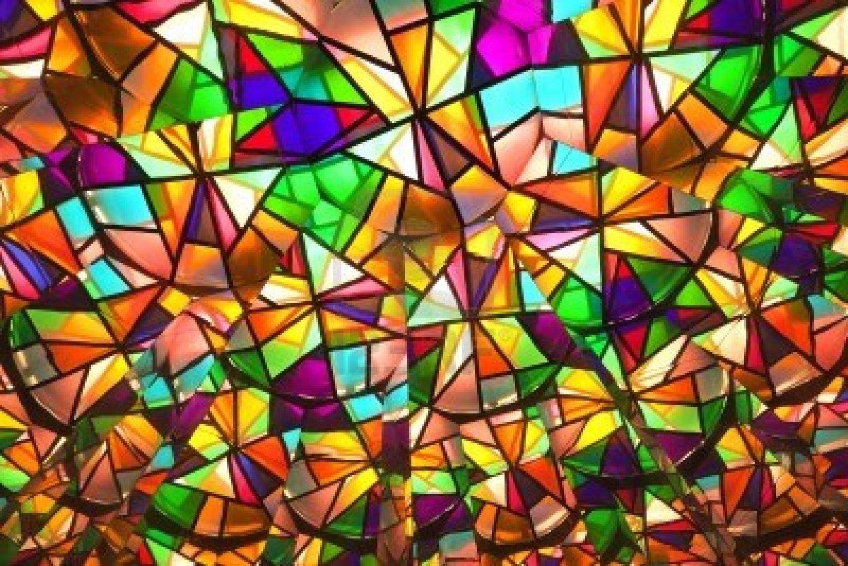 картинка из цветного стекла