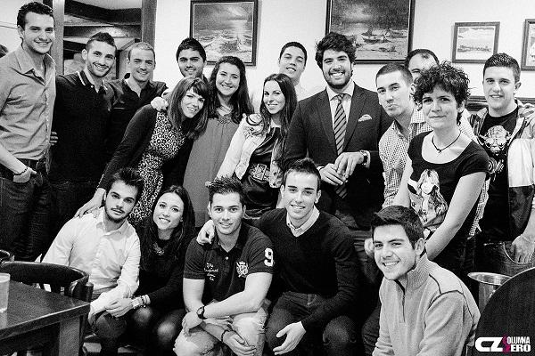 Reunión 12 de abril de 2013 tras la presentación de ColumnaZero en el Museo ABC.