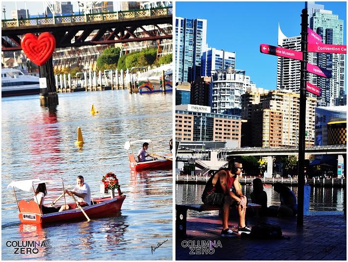 En el Darling Harbour las parejas celebran su amor escribiendo en las paredes, el suelo o con una vuelta en barca.