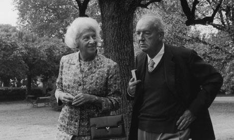 Vera Nabokov junto a su marido.