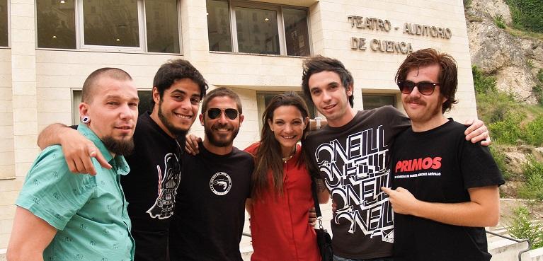 De izquierda a derecha: Carlos Medrano, David Sáinz, Tomás Moreno, Teresa Segura, Javier Lería y Adrián Pino.