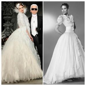 Magníficos diseños de Karl Lagerfeld para dos novias bien distintas