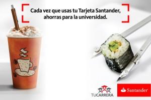 Con compras y con la tarjeta Santander.