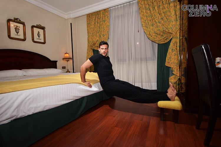 Giuseppe Di Bella con pijama Calvin Klein.