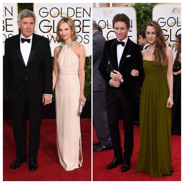 Harrison Ford con Calista Flockhart y los guapos Eddie Redmayne y Hannah Bagshawe.