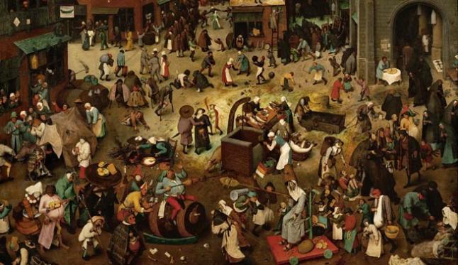 El combate entre don Carnaval y doña Cuaresma, de Pieter Brueghel el Viejo, 1559.