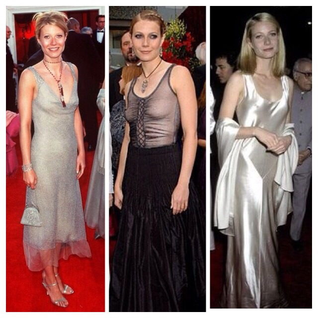 Gwyneth Paltrow con looks de finales de los 90