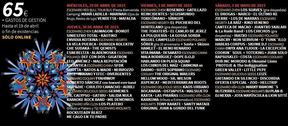 VIÑA ROCK 2015: SE ACERCA EL XX ANIVERSARIO