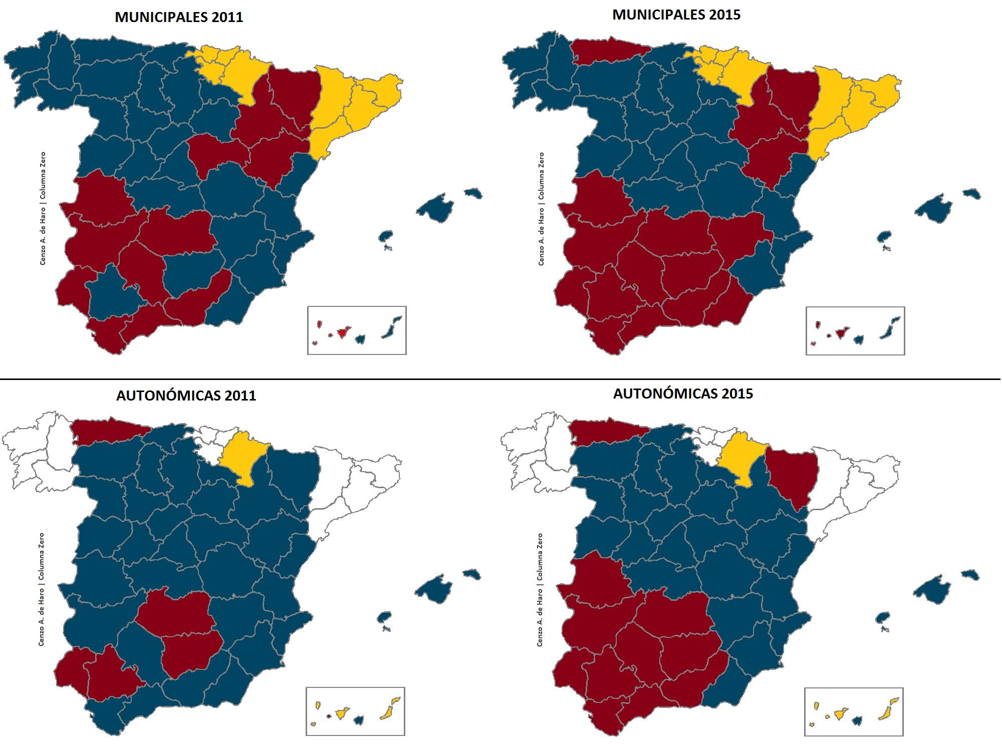 Mapa Region De Murcia Elecciones.Elecciones Autonomicas Y Municipales 2015 En Mapas Columnazero