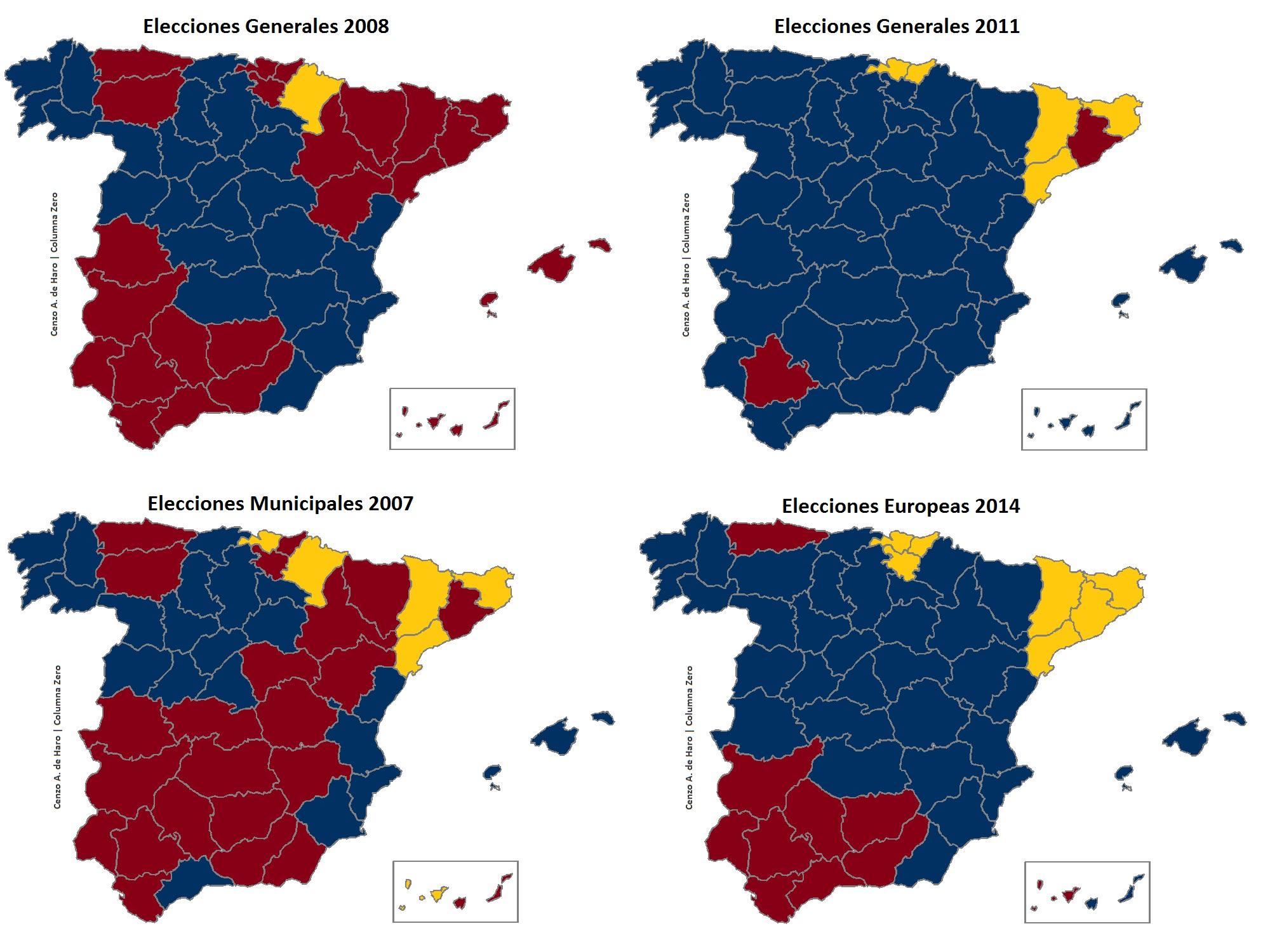 Mapa De Elecciones 2015.Elecciones Autonomicas Y Municipales 2015 En Mapas Columnazero
