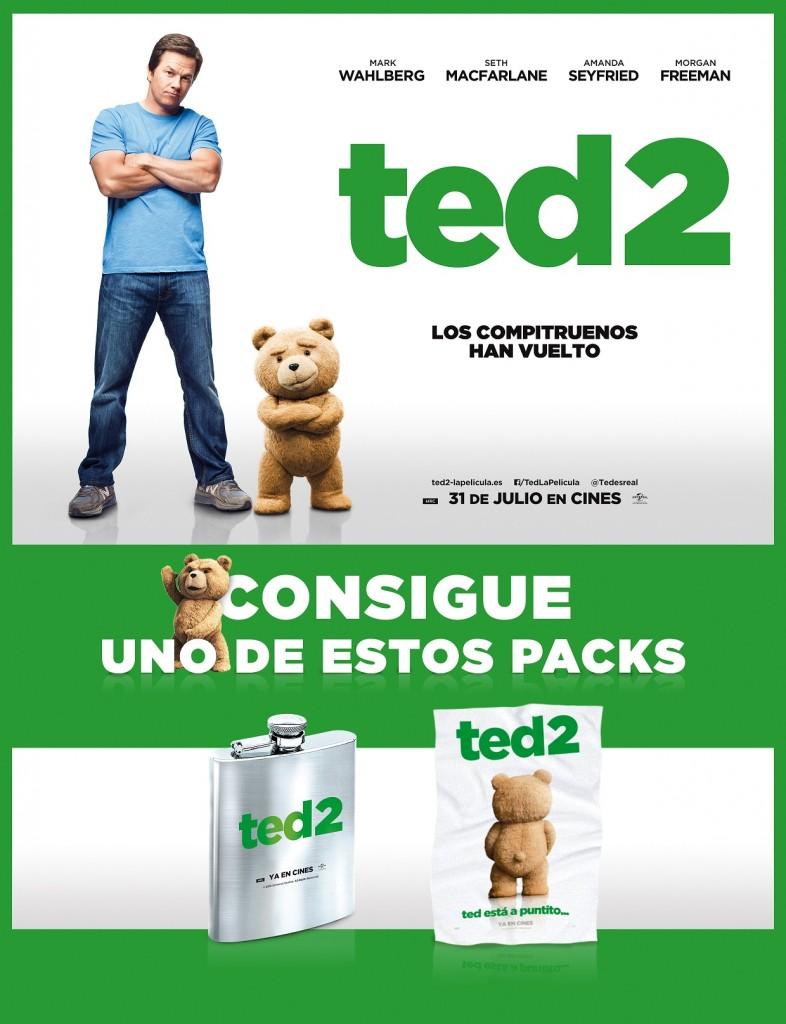 SORTEO TED 2: ¡HAZTE CON UNO DE LOS PACKS PROMOCIONALES DE LA PELI!
