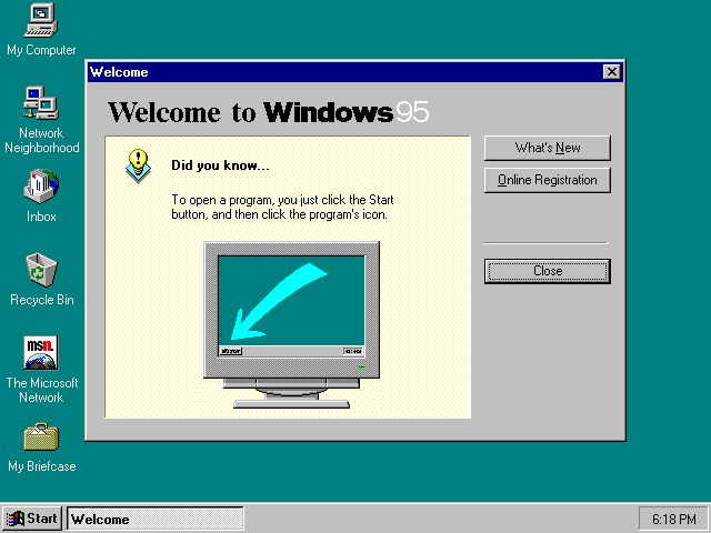 20 AÑOS DE WINDOWS 95