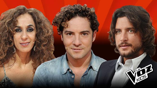 Rosario Flores, David Bisbal y Manuel Carrasco conforman el jurado de la tercera edición de la Voz Kids.
