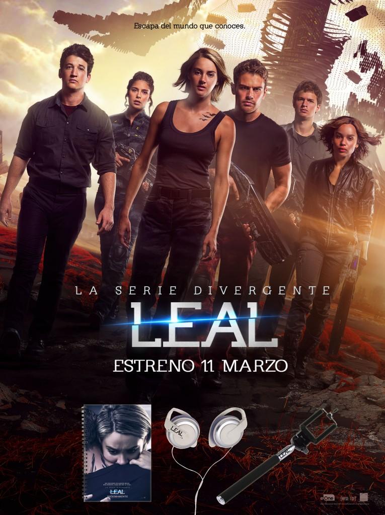 LA SERIE DIVERGENTE, LEAL: ¡HAZTE CON UNO DE LOS PACK DE LA PELÍCULA!
